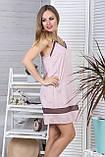 Стильный жіночий комплект с ночной рубашкой Км1091н Мокко, фото 3