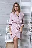 Стильный жіночий комплект с ночной рубашкой Км1091н Мокко, фото 4