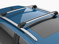 Багажник на крышу Fiat Freemont 2011- на рейлинги серый Turtle