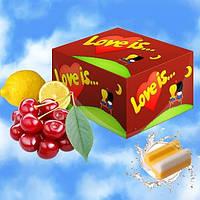 Блок жвачек Love is... со вкусом вишни и лимона