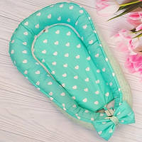 Кокон, детское гнездышко, позиционер для новорожденных с ортопедической подушкой, Минки
