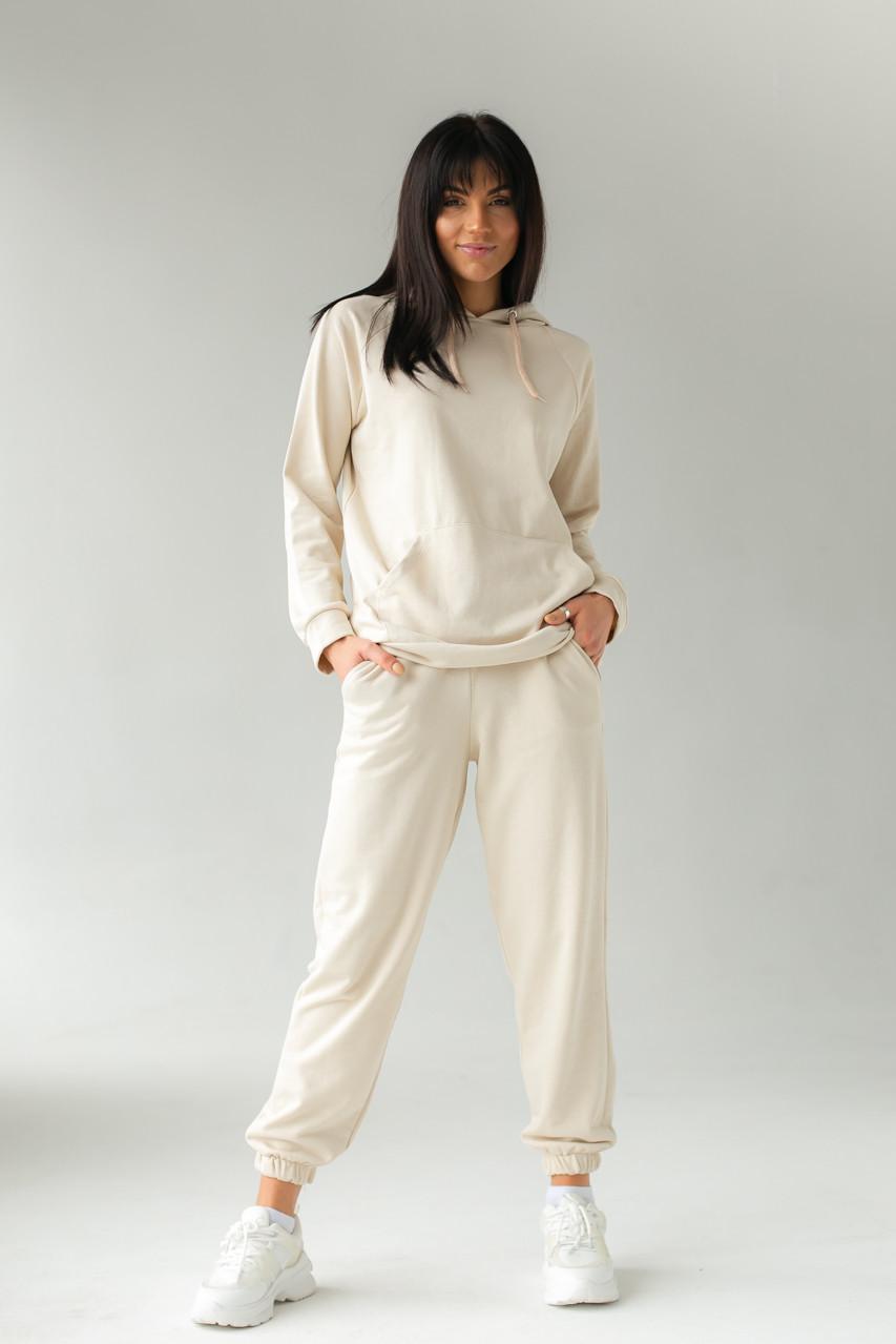 Спортивний костюм з худі і джоггеров DISPATCH - бежевий колір, L (є розміри)