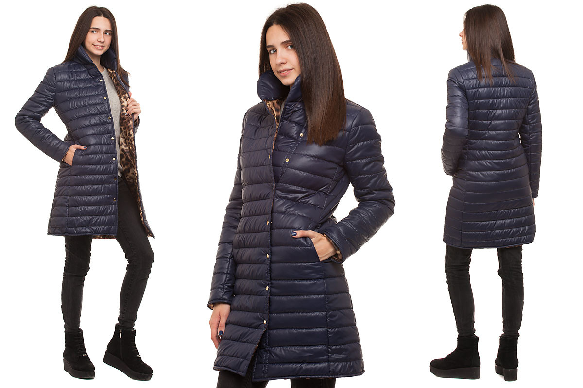 2bc389ead94 Пальто на синтепоне темно-синее