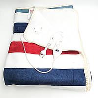 Электропростынь электро грелка простынь одеяло с сумкой electric blanket 120*150 см 86Вт UKC широкие цветные