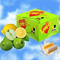 Блок жвачек Love is... со вкусом яблока и лимона