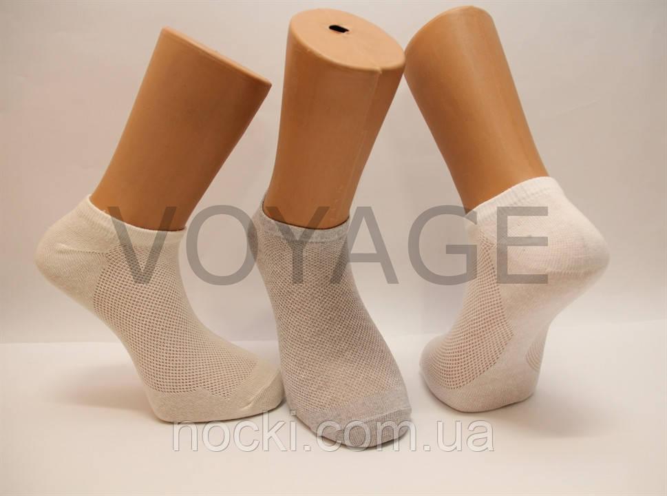 Мужские носки короткие в сеточку НЛ  ассорти