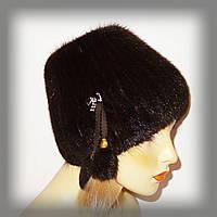 Меховая шапка из ондатры коричневая (кубаночка)