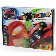 Флекстрим гнучкий трек, ігровий набір з машинкою, 184 ел, 440см, Flextreme Smoby