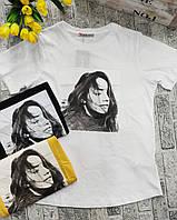 Женская летняя футболка рисунок накат ДЕВУШКА норма размер 42-48,цвет уточняйте при заказе