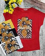Женская летняя футболка рисунок накат ШАРИКИ норма размер 42-48,цвет уточняйте при заказе