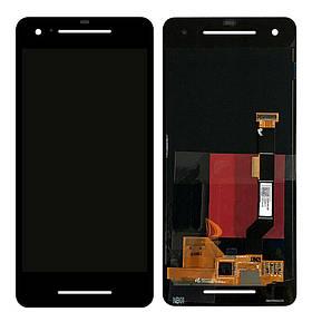 Дисплей (экран) для Google Pixel 2 G011A с сенсором (тачскрином) черный Amoled Оригинал