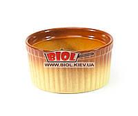 Керамическая кокотница (жульенница, соусница) 180мл d-9см (цвет - бежево-коричневый) Stenson 236796
