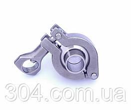 Кламповое соединение, кламп DN25 (зажим 34 мм), нержавеющее Aisi 304