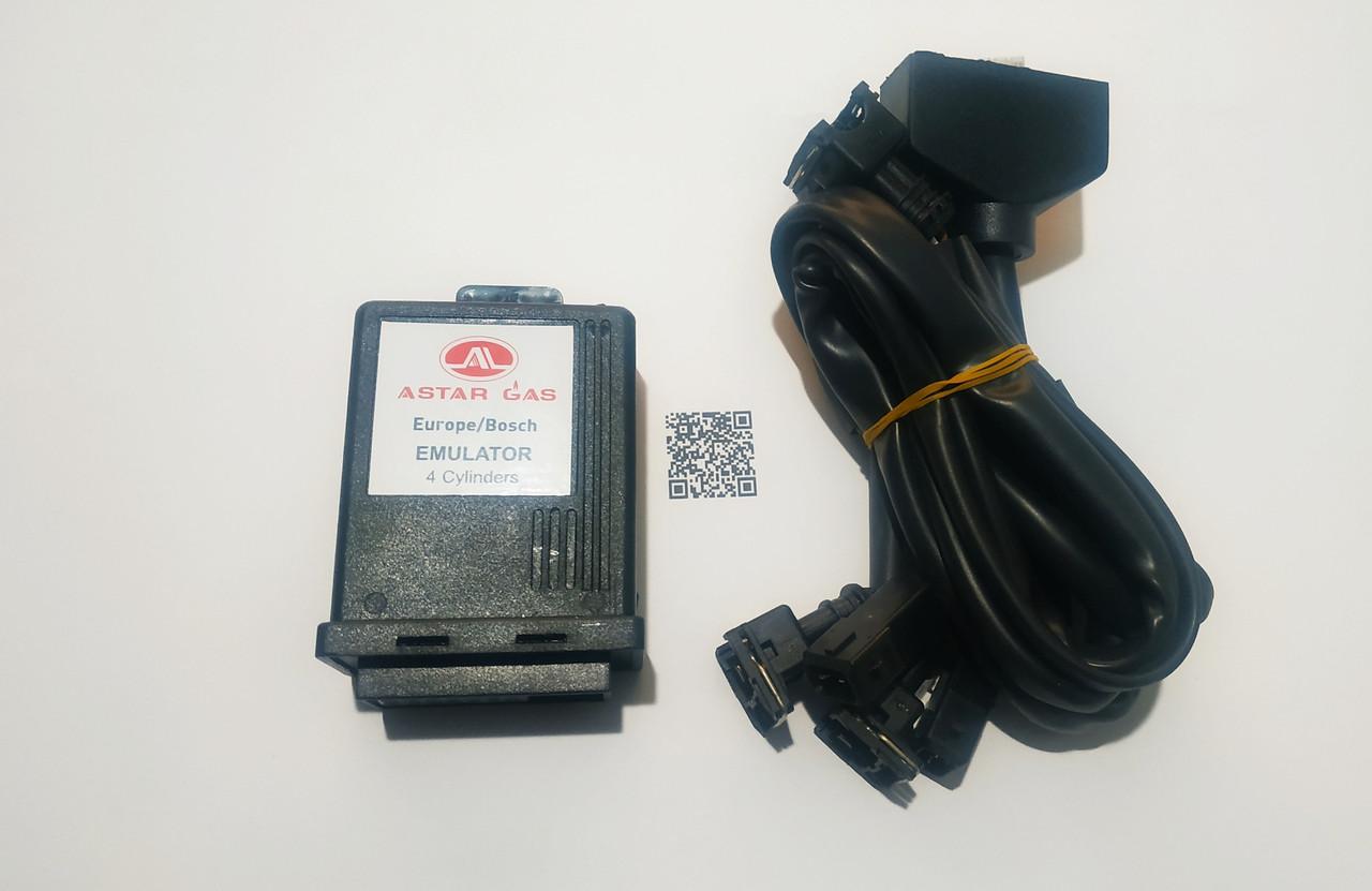 Эмулятор форсунок  Astar Gas 4 цил. c разъёмами BOSCH