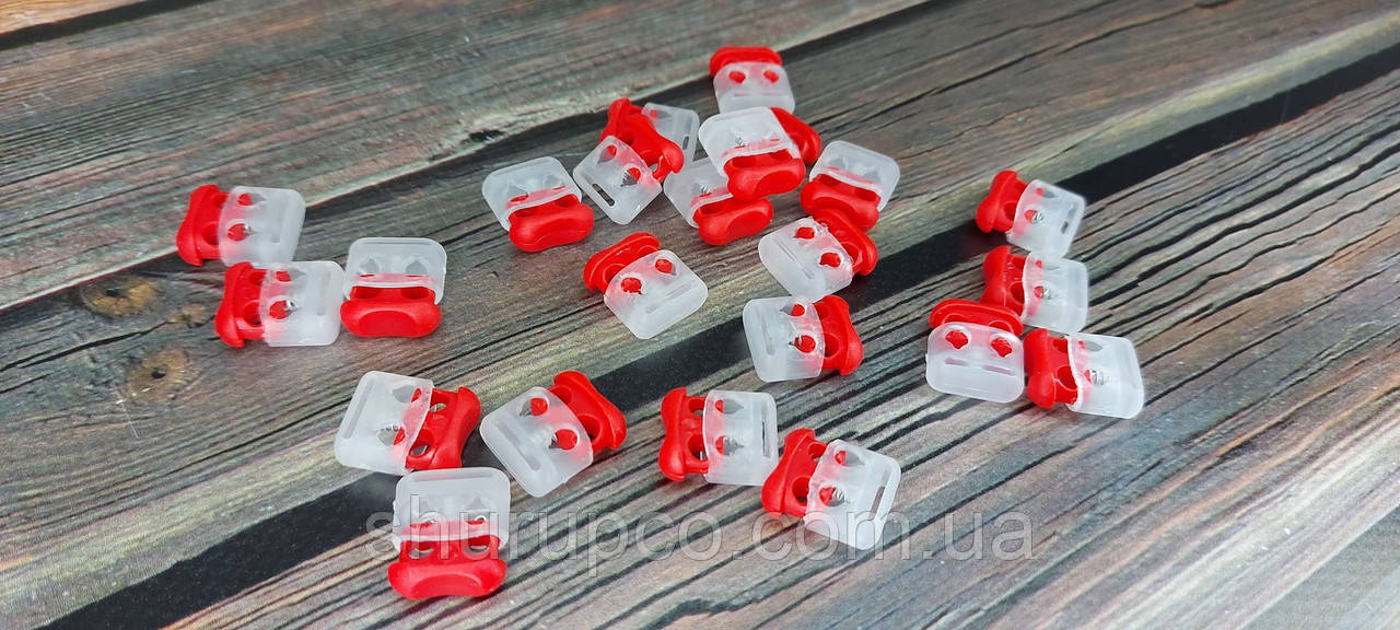 Фіксатор для шнура 3375 прозоро-червоний