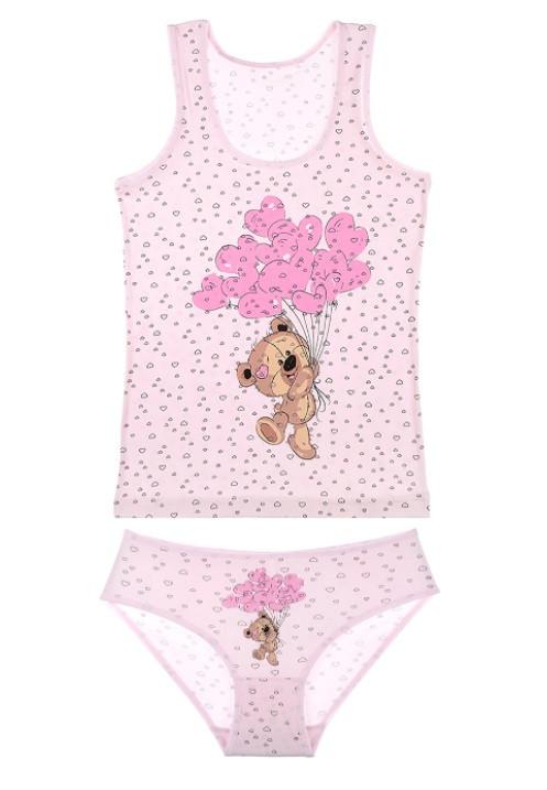 """Комплект """"Мишка"""", 4-5 лет (рост 110-116), цвет розовый"""