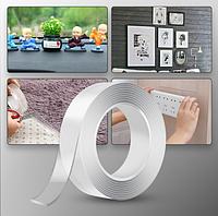 300 см \ 30 мм \ 2 мм Двостороння багаторазова клейка стрічка Ivy Grip Tape многоразовая крепежная лента