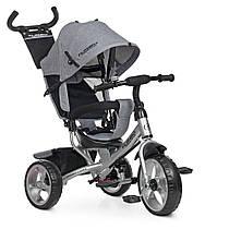 Детский трехколесный велосипед turbo trike M 3113-19L, EVA колёса, серый1