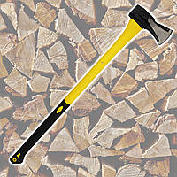 Колун 2200 г, с ручкой из фибергласса для колки и рубки дров. HauseTools 05K282