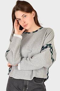 Батник женский серый AAA 128573P