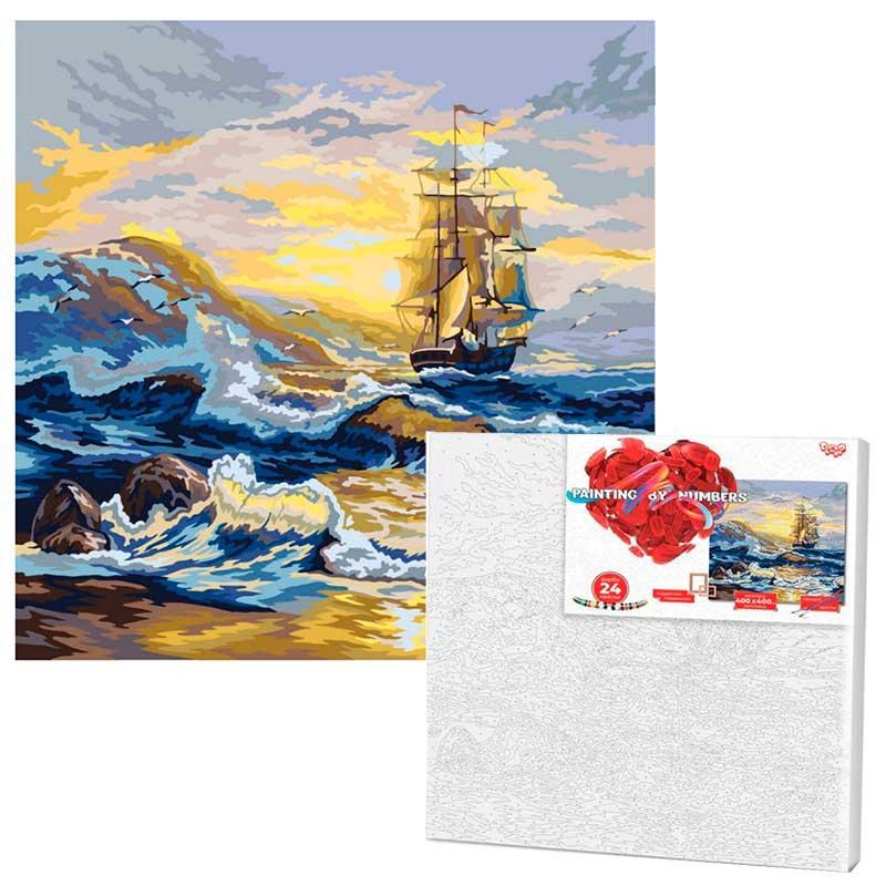 """Картина за номерами """"Вітрильник"""" Danko Toys KpNe-02-07, 40-40 см"""