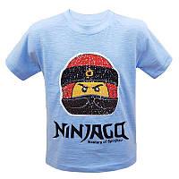 """Футболка для мальчика """"Ninjago"""" с пайетками 92-116 (3-6 лет) арт.3114"""