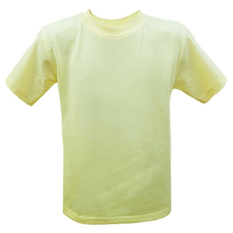 Футболка детская однотонная желтая 92-116 (2-6 лет) арт. 2286