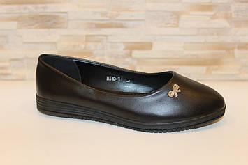 Балетки туфли женские черные Т1252