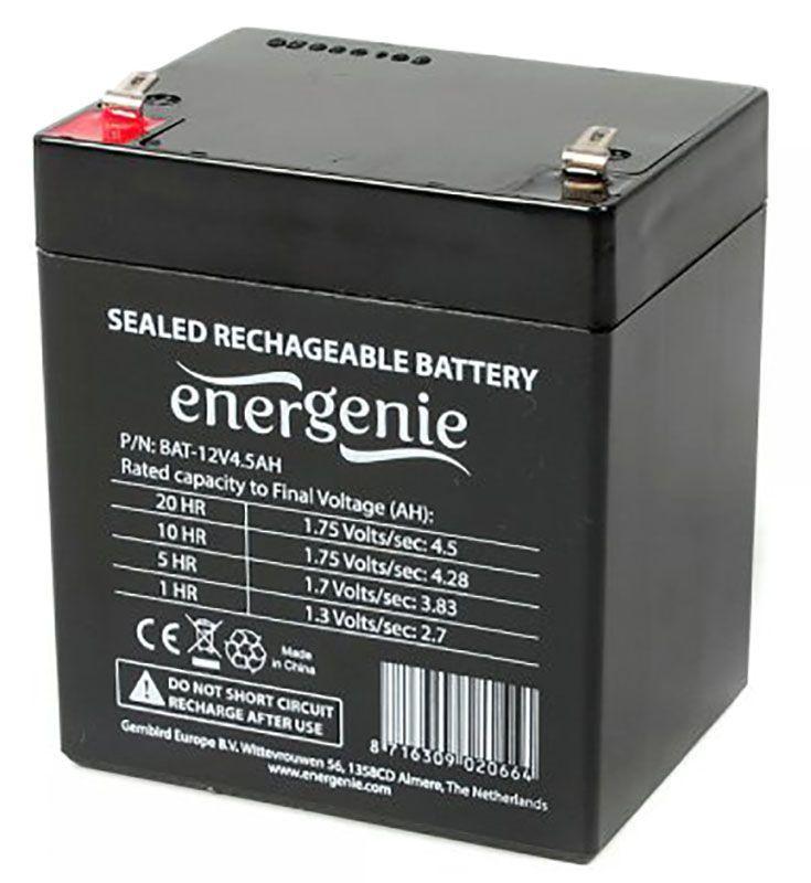 Акумуляторна батарея Energenie 12V 4.5 Ah (BAT-12V4.5AH)