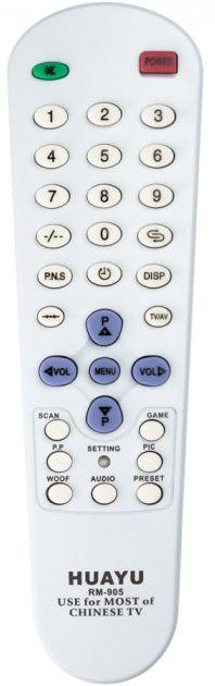 Пульт универсальный Huayu CHINA TV RM-905 (6 кодов)