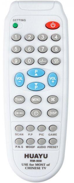 Пульт універсальний Huayu CHINA TV RM-908 (6 кодів)