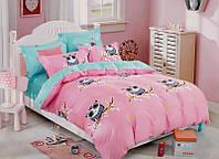 Детский комплект постельного белья в полуторную кровать для девочки VILUTA, арт 19019