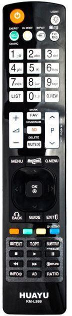 Пульт універсальний Huayu LG RM-L999 (2 коду)