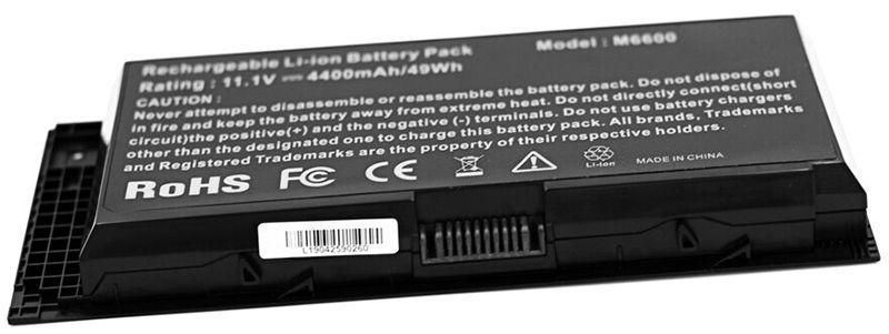 Аккумулятор для ноутбука Dell FV993 Precision M4600 / 11.1V 4400mAh / Black
