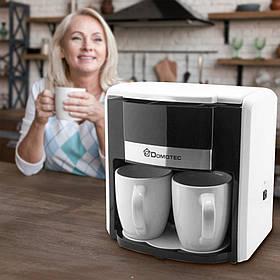 Кавоварка Domotec MS-0706 Біла (+2 керамічні чашки)