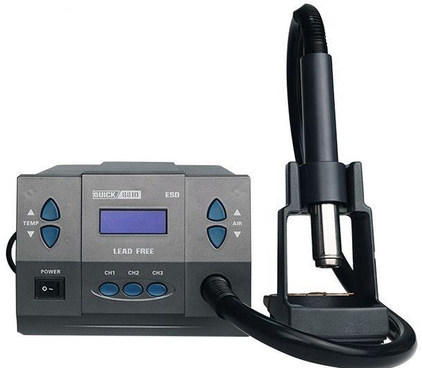 Паяльна станція одноканальна, термовоздушная, термофен Quick 881D (фен 1300Вт)