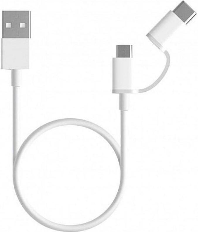 Кабель USB Xiaomi (OR) Mi USB Cable 2in1 micro USB - USB Type-C Cable White (SJV4082TY)