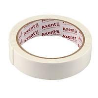 Стрічка клейка Axent двосторонній скотч 24ммХ2м спінена 3112-А