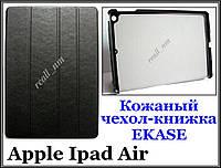 Черный кожаный чехол-книжка  Smart Case от EKASE Apple Ipad Air, Ipad 5, фото 1