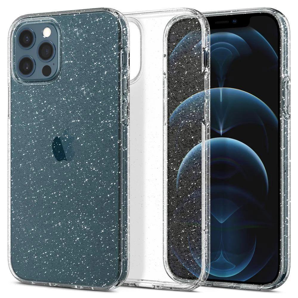 Чехол Spigen Liquid Crystal Glitter Apple iPhone 12, iPhone Pro Crystal Quartz (ACS01698)