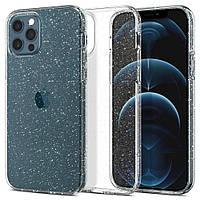 Чехол Spigen Liquid Crystal Glitter Apple iPhone 12, iPhone Pro Crystal Quartz (ACS01698), фото 1