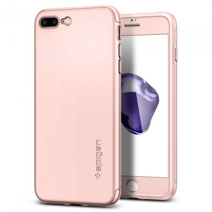 Чехол Spigen Air Fit 360 Apple iPhone 7 Plus, iPhone 8 Plus Rose Gold (043CS21102)