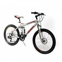 """Подростковый горный велосипед Azimut Race 24 размер рамы 17"""" черно-красный, фото 2"""
