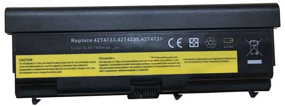 Аккумулятор для ноутбука Lenovo 2T4708 ThinkPad T410 / 10.8 V 7200mAh / Black