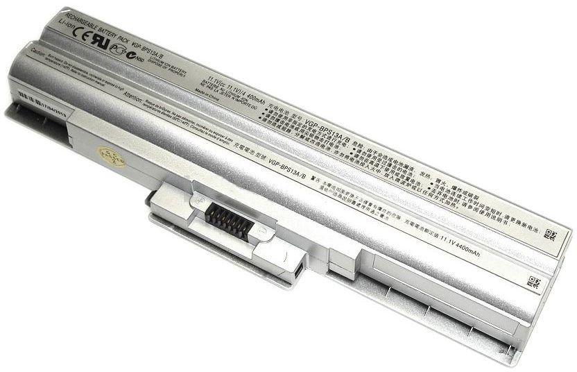 Аккумулятор для ноутбука Sony VGP-BPS13 VAIO VGN-FW 11.1V Silver 4400mAhr
