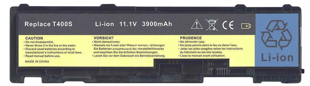 Аккумулятор для ноутбука Lenovo 42T4833 ThinkPad T410 / 10.8 V 3900mAh / Black