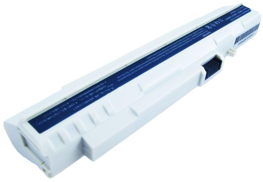 Аккумулятор для ноутбука Acer UM08A73 Aspire One A110 / 11.1 V 5200mAh / White