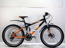 """Підлітковий гірський велосипед Azimut Race 24 розмір рами 17"""" чорно-зелений, фото 3"""