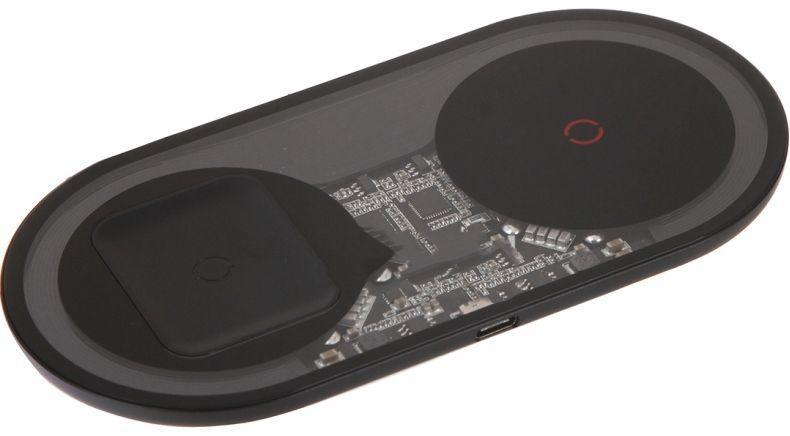 Беспроводное (индукционное) зарядное устройство Baseus Turbo Simple 2 in 1 24W Black (TZWXJK-B01)
