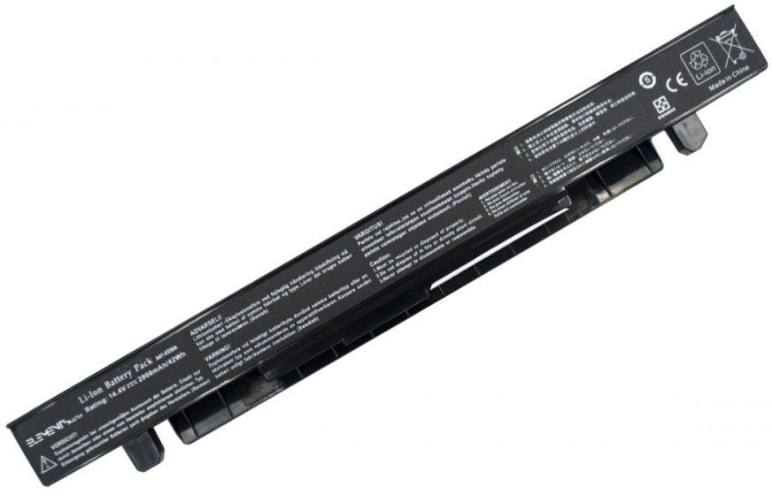 Аккумулятор для ноутбука Asus A41-X550A / 14.4 V 2900mAh / X550-4-4S1P-2900 Elements ULTRA Black